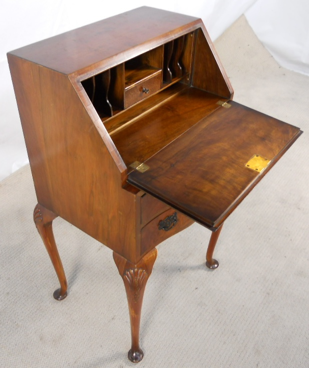 Writing Bureau Furniture Walnut Wooden Workstation For